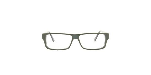 Zelené hranaté okuliarové obrúčky Emporio Armani