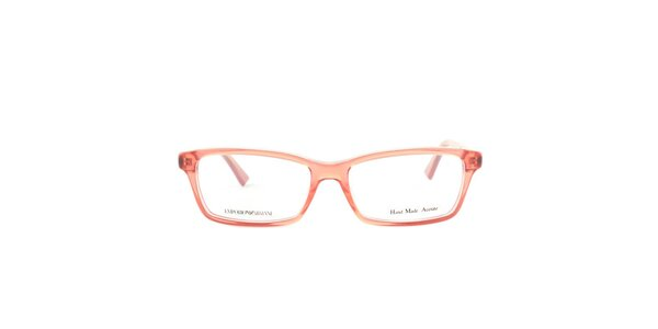 Červené transparentné okuliarové obrúčky Emporio Armani