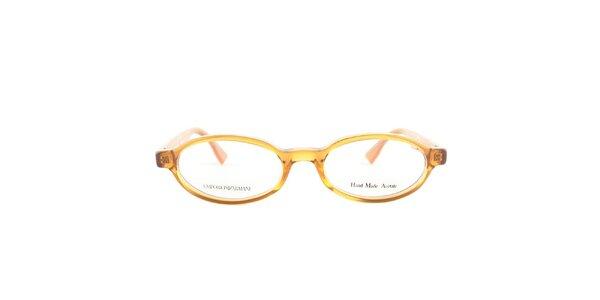 Dámske oválne oranžové okuliarové obrúčky Emporio Armani