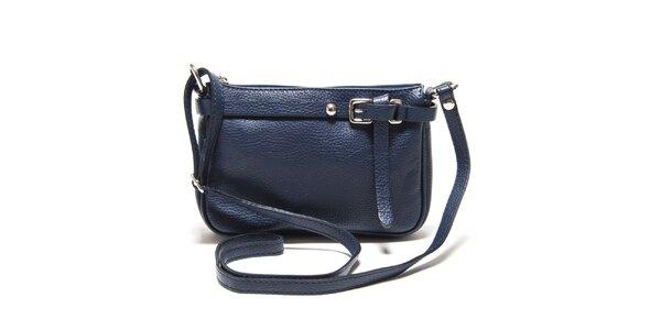 Dámska modrá kožená kabelka cez rameno Isabella Rhea