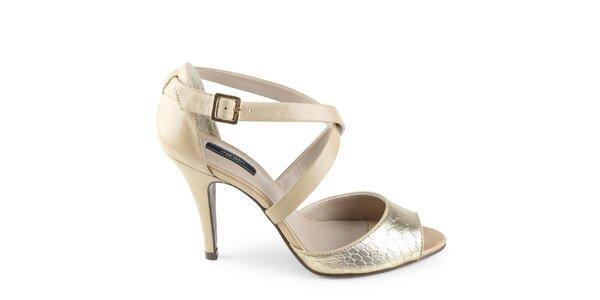 Dámske zlaté sandálky Made In