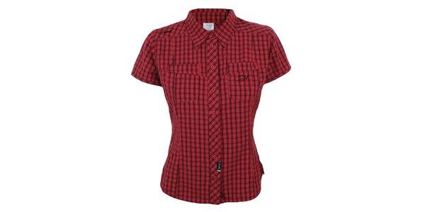 Dámska červeno kockovaná košeľa s krátkym rukávom Hannah