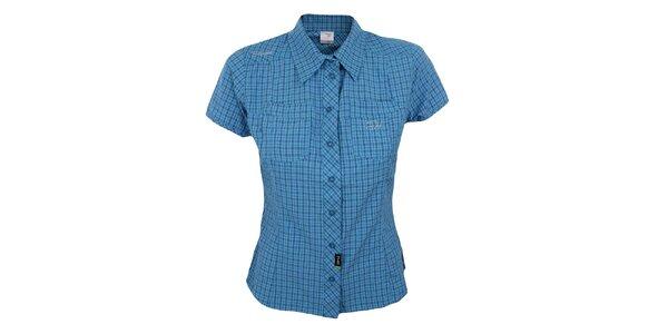 Dámska modro kockovaná košeľa s krátkym rukávom Hannah