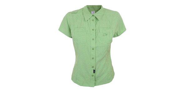 Dámska zeleno kockovaná košeľa s krátkym rukávom Hannah