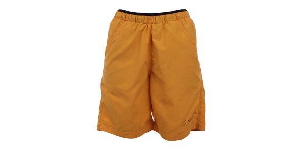 Dámske tmavo žlté funkčné šortky Hannah