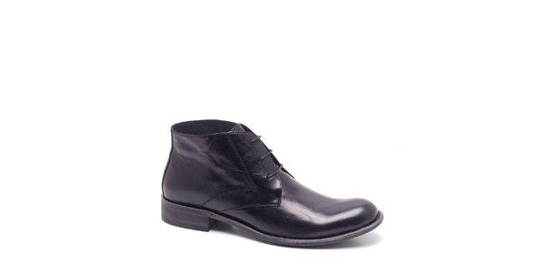 Pánske čierne kotníkové topánky Steve Madden
