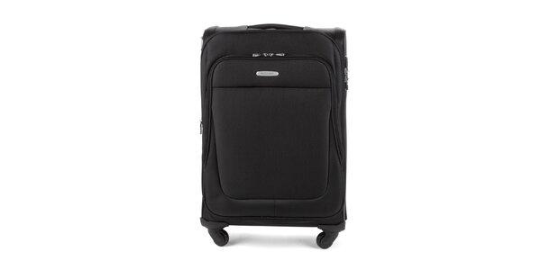 Čierny cestovný kufor Wittchen so štyrmi kolieskami