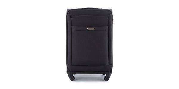 Čierny cestovný kufor so štyrmi kolieskami Wittchen