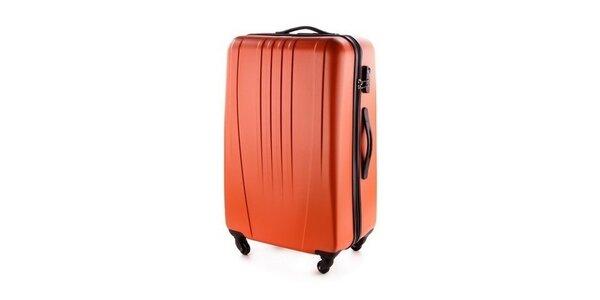 Oranžový škrupinový kufor Wittchen