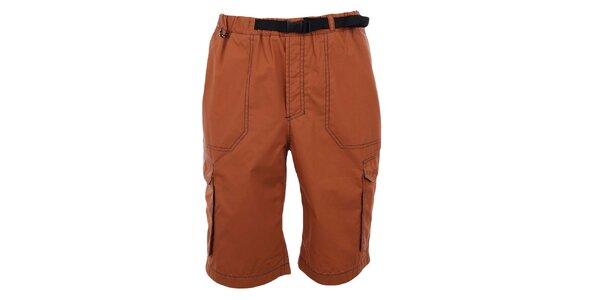 Pánske oranžové šortky Hannah