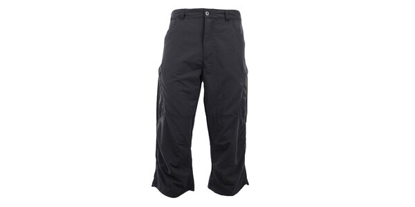Pánske 3/4 tmavo šedé funkčné nohavice Hannah