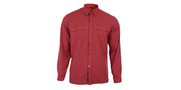 Pánska červeno kockovaná košeľa so skrytou légou Hannah