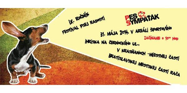 Registrácia psov na festival PES SYMPAŤÁK