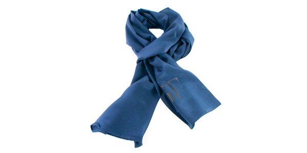 Modrá hodvábna šatka Gianfranco Ferré