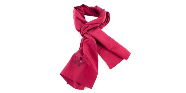 Červená hodvábna šatka Gianfranco Ferré