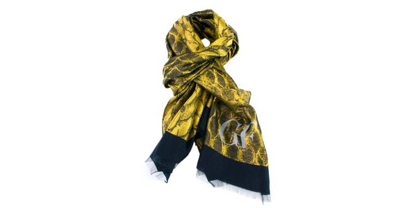 Žlto vzorovaná šatka Gianfranco Ferré