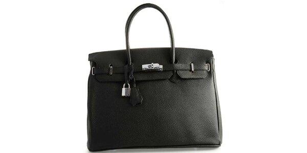 Dámska čierna kožená kufríková kabelka Florence Bags