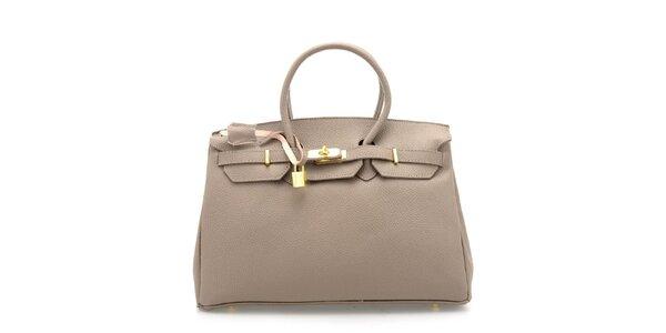 Dámska šedá kožená kufríková kabelka Florence Bags