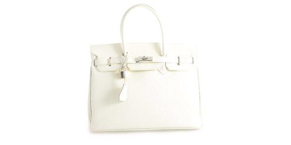 Dámska biela kožená kufríková kabelka Florence Bags