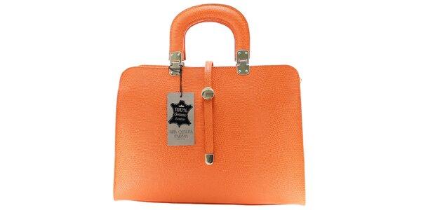 Dámska oranžová vzorovaná kabelka Florence Bags