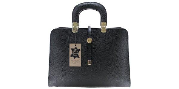 Dámska čierna vzorovaná kabelka Florence Bags