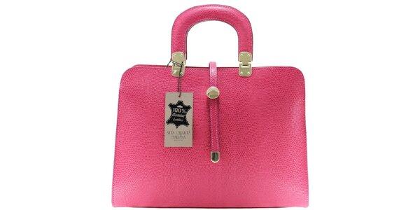 Dámska ružová vzorovaná kabelka Florence Bags