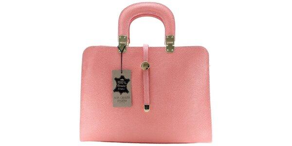 Dámska svetlo ružová vzorovaná kabelka Florence Bags