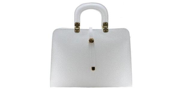 Dámska biela vzorovaná kabelka Florence Bags