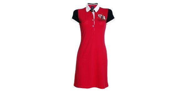 Dámske červené šaty s golierikom Signore dei Mari