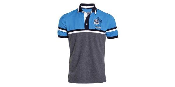Pánske šedo-modré polo tričko Signore dei Mari