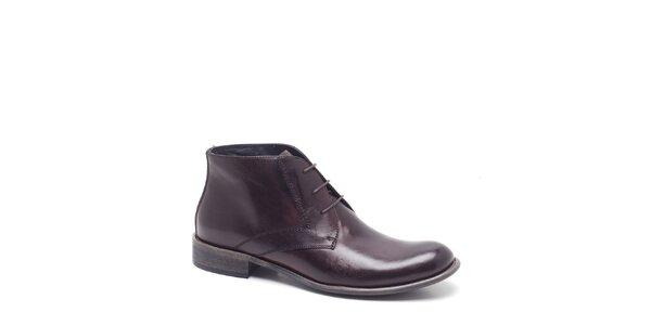 Pánske kávovo hnedé kotníkové topánky Steve Madden