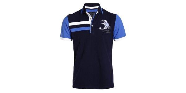 Pánske tmavomodré tričko s modrými rukávmi Signore dei Mari
