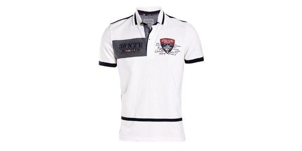 Pánske biele tričko s modrým chrbtom Signore dei Mari