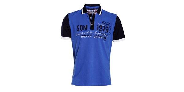 Pánske modré polo tričko Signore dei Mari