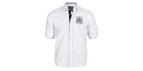 Pánska biela košeľa s vyhrnuteľnými rukávmi Signore dei Mari