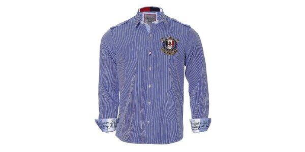 Pánska modro prúžkovaná košeľa Signore dei Mari