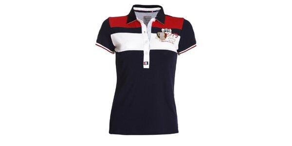 Dámske tmavo modré polo tričko s výšivkou Signore dei Mari