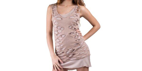 Dámske staroružové šaty s ozdobnými okami Keysha