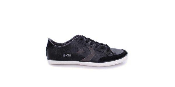 Pánske čierne nízke tenisky s hviezdou Converse