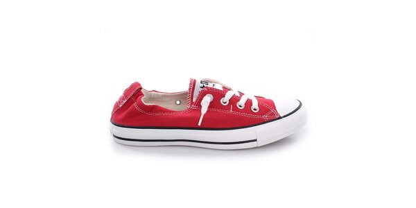 Dámske červené nízke tenisky Converse
