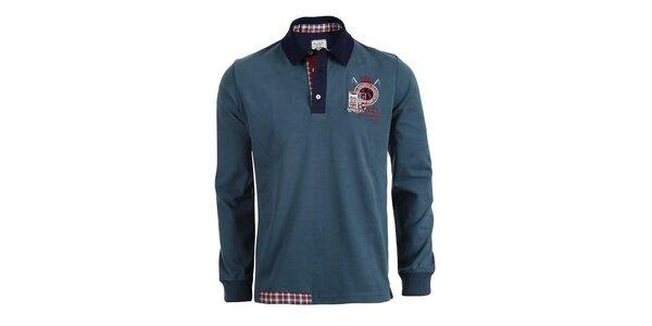 Pánske modrozelené polo tričko s dlhými rukávmi Signore dei Mari