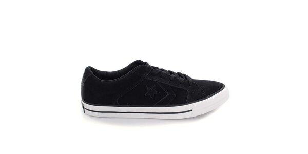 Čierne nízke topánky s hviezdou Converse