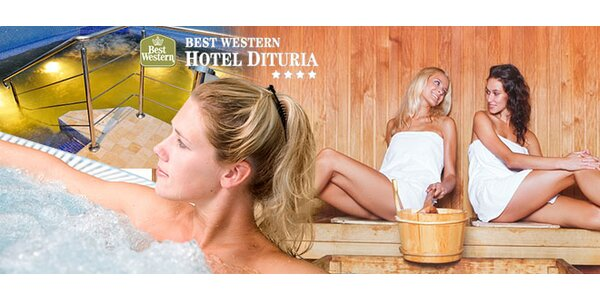 2 hodiny vo wellness centre v Hoteli Dituria****