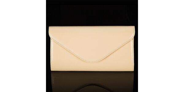 Dámska béžová listová kabelka Felice