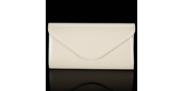 Dámska krémovo biela listová kabelka Felice