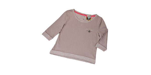Dámsky béžový sveter s 3/4 rukávmi Sublevel