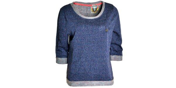 Dámsky modrý sveter s 3/4 rukávmi Sublevel