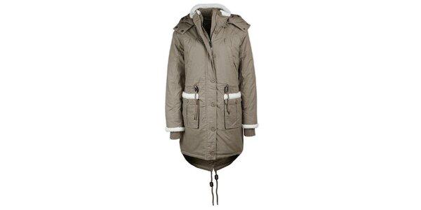 Dámska svetlá bunda s kapucňou Urban Surface