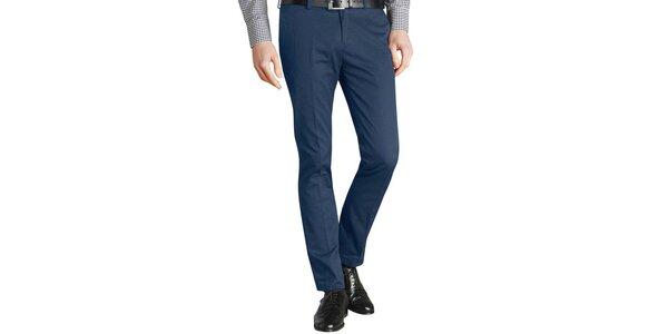 Pánske tmavo modré nohavice s pukmi Merc