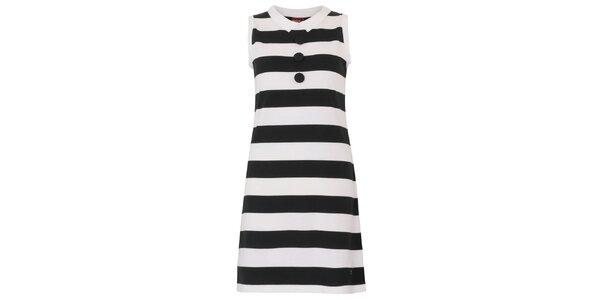 Dámske pruhované retro šaty Merc s gombíkmi na hrudi